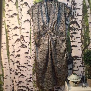 Jonathan Martin Black/Silver Medallion Print Dress